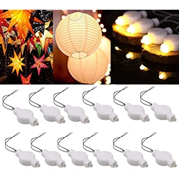 LOGUIDE LED Lantern Lights,24 Pack Battery Powered Small LED Lights for Paper Lanterns,Balloons,Floral,Weddings and Festival Decorations (Warm White)
