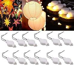 LOGUIDE Mini Light for Lantern Paper، چراغهای مهمانی LED، بسته 24 عدد، فانوس کاغذ مخصوص نور ضد آب گرم حزب برای فانوس ستاره ای فانوس کاغذی فانوس بادکنک بادکنک عروسی گل دکوراسیون جشن عروسی