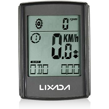Lixada LCD Ciclocomputadores de Bicicleta, 2-en-1 Multifuncional ...