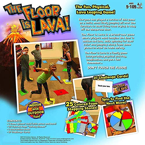 N/X The Floor Is Lava Volcano Juego de Cartas Spin para niños Solitario Juego de Mesa Familiar 26.5 7 26.5cm / 10.5inch 2.8inch 10.5inch Valuable