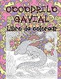Cocodrilo gavial - Libro de colorear