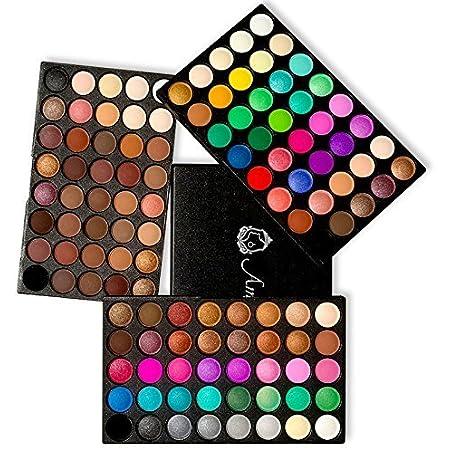 AMBITO 120 colores Paleta de sombra de ojos cosmética maquillaje Kit Set Profesional sombra de ojos del reflejo Mate Disponible Belleza Ojo Shadow ...