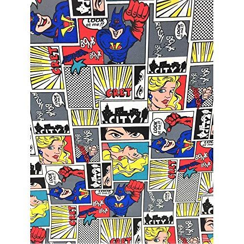 Tela de comics alto 150 cm comodidad de colores impresos