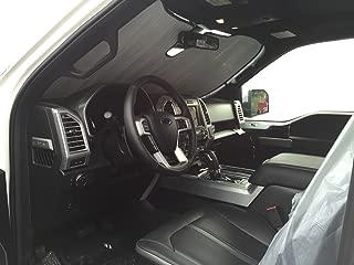 The Original Windshield Sun Shade, Custom-Fit for Ford F-150 Truck (Crew Cab) w/Sensor 2015, 2016, 2017, 2018, 2019, Silver Series