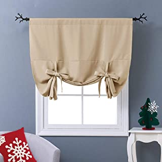 NICETOWN Blackout Room Darkening Curtain – Tie Up Shade Blind Bathroom Window..