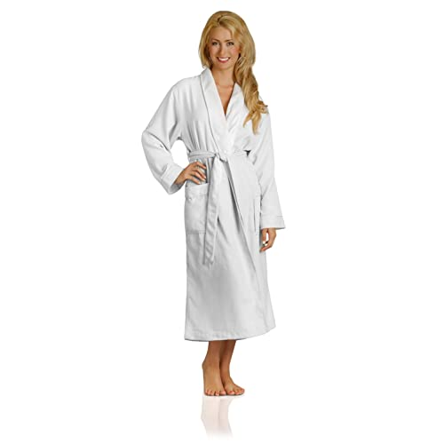 Plush Necessities Luxury Spa Robe - Microfiber with Cotton Terry Lining  Beige 617c0895a