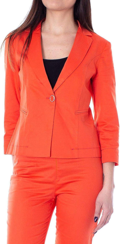 Akè Women's F646XAHG1141orange orange Cotton Blazer