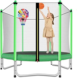 Lovely Snail Trampoline with Basketball Hoop-Trampoline for Kids-5 Feet
