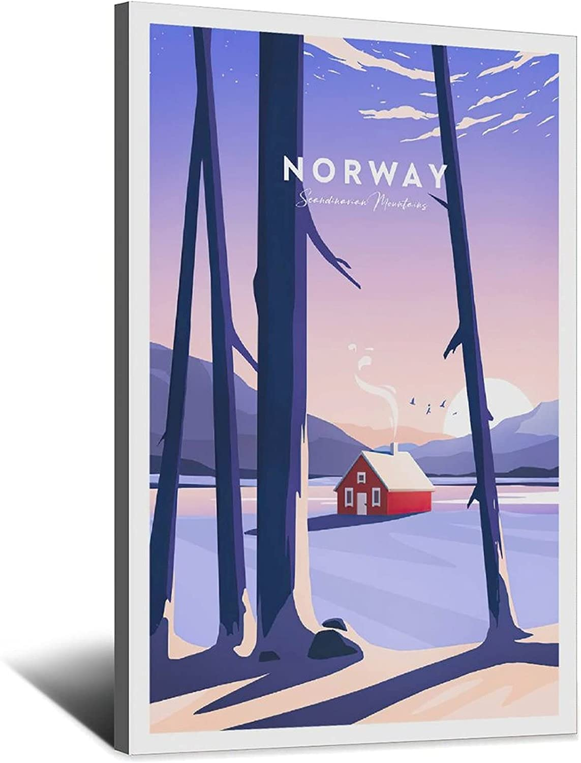 Vintage Norway Traditional Houston Mall Large special price !! Travel Scandinavian Mountains Poster