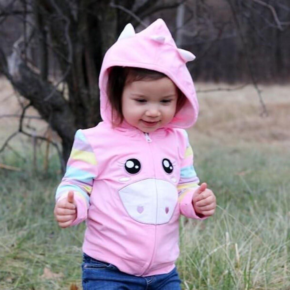 Baby Girls Toddler Kids Fall Winter Coat Jacket Outerwear Pig Printed Hoodie
