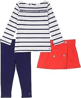 Girls' Three Piece Shirt, Skirt and Legging Set