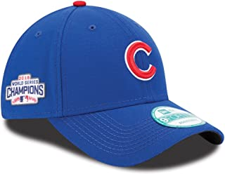 New Era Mens Chicago Cubs 9FORTY Adjustable 2016 World Series Baseball Hat Blue