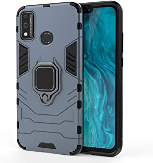 FanTing Case for Honor 9X Lite, Rugged and shockproof,with mobile phone holder, Cover for Honor 9X Lite-Dark Blue