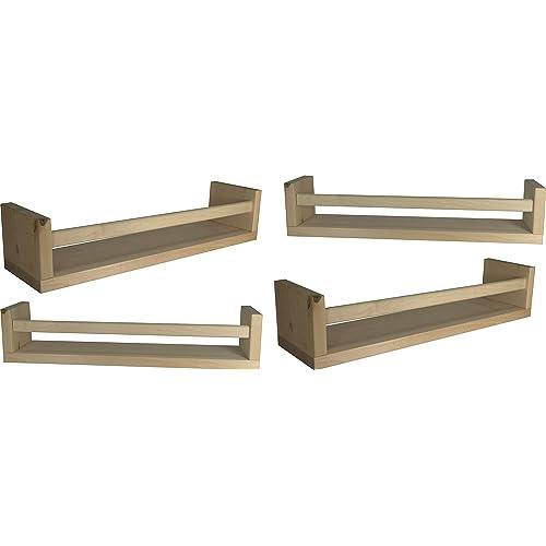 63ede6b17bd Ikea 4 Wooden Spice Rack Nursery Book Holder Kids Shelf Kitchen Bathroom  Accessory Storage Organizer Birch