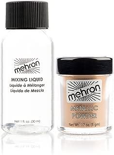 Metallic Powder .17 oz with Mixing Liquid 1fl oz - Gold by Mehron