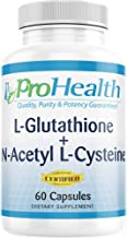 ProHealth Glutathione + N-Acetyl-L-Cysteine with Vitamin C (60 Capsules - 60 Day Supply)