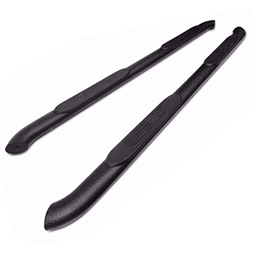 """TAC Side Steps Fit 2005-2020 Toyota Tacoma Double Cab Truck Pickup 4"""" Oval Bend Texture Black Side Bars Nerf Bars Running Boards Exterior Accessories (2PCS Running Boards)"""