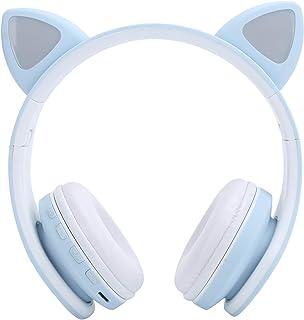 Hopcd per Cuffie Bluetooth 5.0, Cuffie LED con Orecchio di Gatto con Spina da 3,5 mm/Microfono/Stereo/riduzione del Rumore...