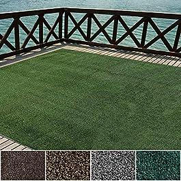Icustomrug extérieur Tapis de territoire en vert gazon artificiel | Beaucoup d'autres Tailles disponibles, Green, 6′ X 6…