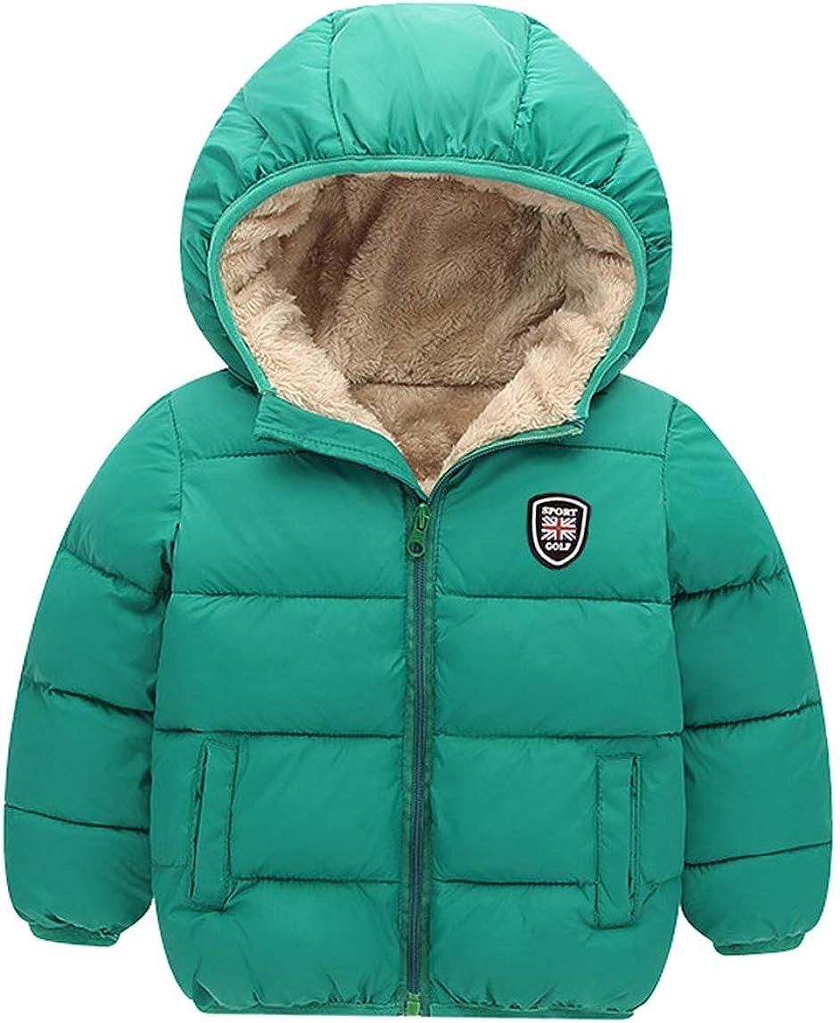 Happy Cherry Kids Boys Girls Fleece Hooded Jacket Coat with Ears Cartoon Warm Outwear Zip Up