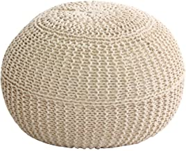 WEHOLY Foot Stool Guitar Foot Stool Footstools and s, Modern Style Cotton Braided Line Built-in Solid Wood Non-Slip Durabl...