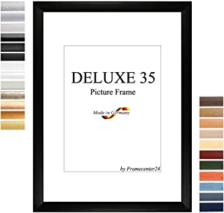 Fotolijst, fotolijst DELUXE35 60x120 cm (23,6x47,2 inch) met antireflectie veiligheidsglas en mdf backboard, 35 mm MDF mou...