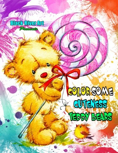 Color Some Cuteness Teddy Bears Grayscale Coloring Book