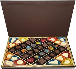 Hediyelik Karma Dolgulu Special Çikolata - Ahşap & Deri Kutu ( 520 gr ) D2