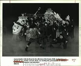 Vintage Photos 1994 Press Photo Scene from Walt Disney World On Ice - Beauty and The Beast