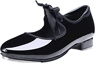 Linodes Leather/Patent Tap Shoe for Girls and Boys (Toddler/Little Kid/Big Kid)