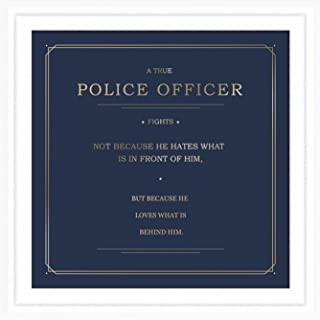 Police Officer Gifts | 7x7 Tile Artwork Ideal for Police Station Decor | Police Academy Graduation Gift | Present for Retired or Graduate Cop | Policeman Art Decorations