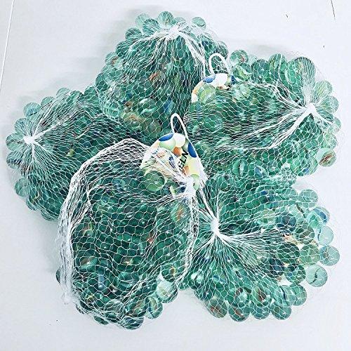Warenfux24 RPN 324 Stück Murmeln Glasmurmeln Knicker Glaskugeln Klicker Spielzeug Murmel Deko Dekoration Spielzeug für draußen Glas …