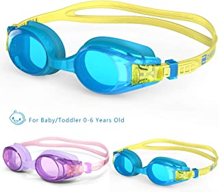ZABERT Kids Swim Goggles for Children Age 0-14 Years Old Leakproof Shatterproof Anti-Fog UV Protection Quick Adjust - Hard Case Nose Clip Ear Plugs - for Fun Triathlon Indoor Open Water