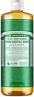 Dr. Bronner's - Pure-Castile Liquid Soap (Almond, 32 ounce) - Made with Organic Oils, 18-in-1 Uses: Face, Body, Hair, Laun...