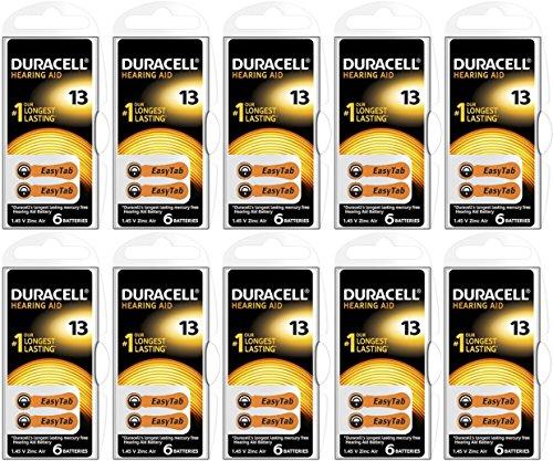 Hörgerätebatterien Duracell Activair 10 Pack á 6 Stück (Duracell Nr. 13)