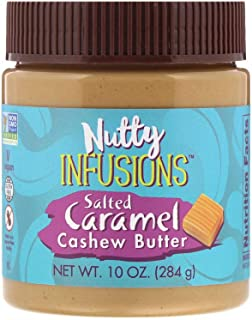 NOW Foods, Nutty Infusions, Salted Caramel Cashew Butter, Creamy and Smooth, Salty-Sweet Sensation, 10-Ounce