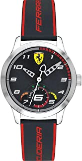 Ferrari Unisex-Adult Quartz Watch, Analog Display and Silicone Strap 860003