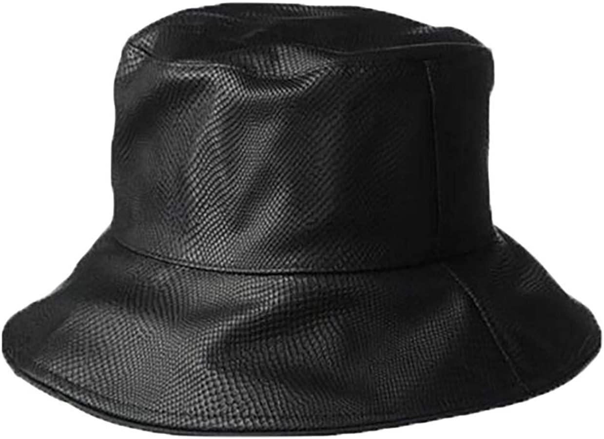NINE WEST Womans Rain Hat Black Water-Repellent Snake Skin Textured One Size Fits Most