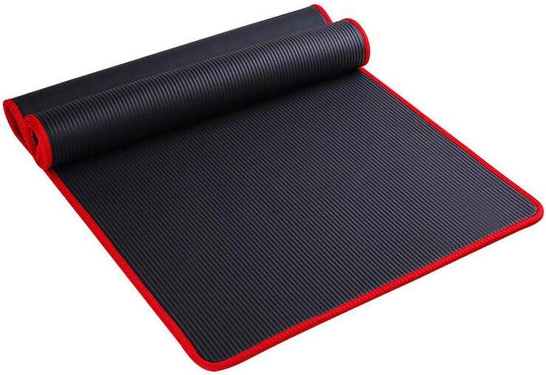 XHCP Yogamatten Trainingsmatte NBR Fitness Yogamatte 10mm Extra Dick High Density NBR Matte Für Pilates, Fitness \u0026 Workout Mit Tragegurt (Gre  183cmX80cmX10mm)