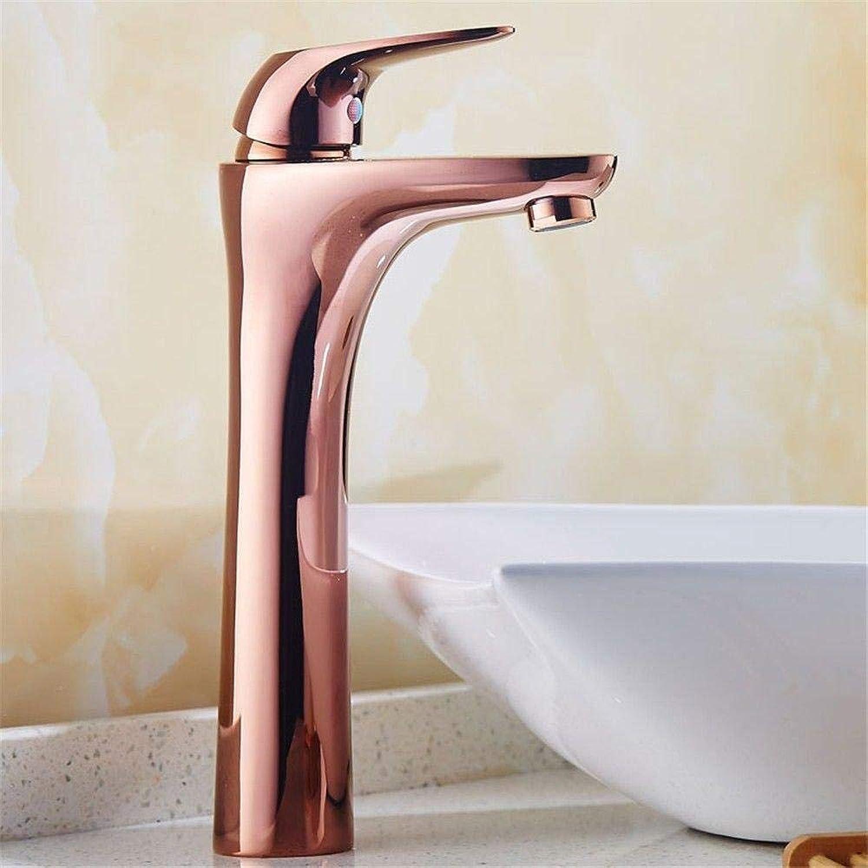 Wasserhahn Edelstahl Messing Chrom Bad Wasserhahn Küchenarmatur Voll verkupfert Bad Dekoration Einhand-Waschtischbatterie