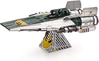 Fascinations Metal Earth Star Wars Rise of Skywalker Resistance A-Wing Fighter 3D Metal Model Kit