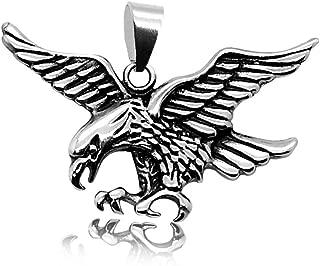 dise/ño de /águila Westernlifestyle Colgante Grande de Acero Inoxidable