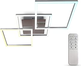 B.K.Licht I 32 Watt LED frame I CCT kleurtemperatuurregeling I dimbaar I draaibare I timer I nachtverlichting I afstandsbe...