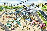 Luck7 Juguetes-Puzzle madera puzzles para adultos Rompecabezas alfombra DIY puzzle Estación de traslado al aeropuerto Regalo -50 * 75cm-1000 Piezas