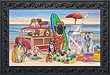 Briarwood Lane Dog Days of Summer Doormat Indoor Outdoor Beach Scene Dog Humor 18' x 30'