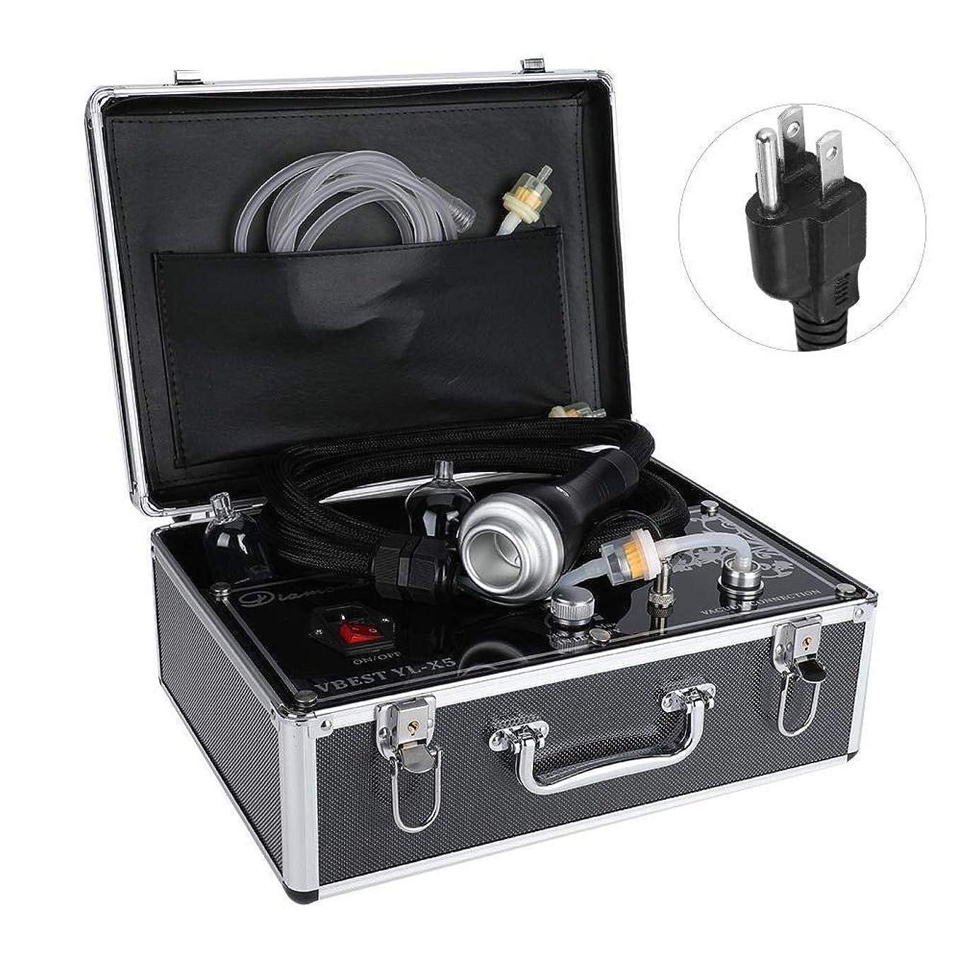 暖かくお父さんウナギ否定的な圧力マッサージャー、ボディ解毒の浚渫の痛みのための熱い圧縮のこするカッピング療法の電気マッサージャー(US Plug)