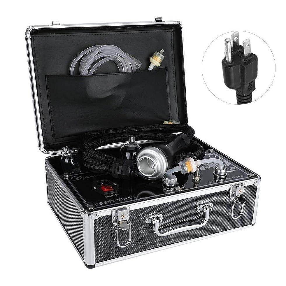 ズーム反対した疾患否定的な圧力マッサージャー、ボディ解毒の浚渫の痛みのための熱い圧縮のこするカッピング療法の電気マッサージャー(US Plug)