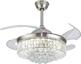 Ventilador de techo con iluminación y mando a distancia, 3 colores de luz, lámpara de techo LED, alas plegables, 36 pulgadas, lámpara de techo para dormitorio, salón, comedor