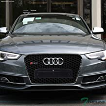 Topline Autopart Black Chrome RS-Honeycomb Mesh Front Hood Bumper Grill Grille ABS For 13-16 Audi A5 / S5 B8.5 / B9