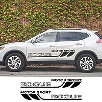 車のドアサイドスカートストライプステッカーデカール 車体装飾 に適用する Nissan Rogue Racing